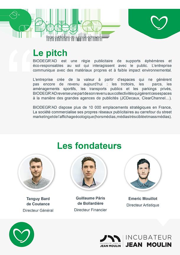 Incubateur Alptis Université Lyon 3, le 25. Portrait jeune entrepreneur : Biodegr'ad