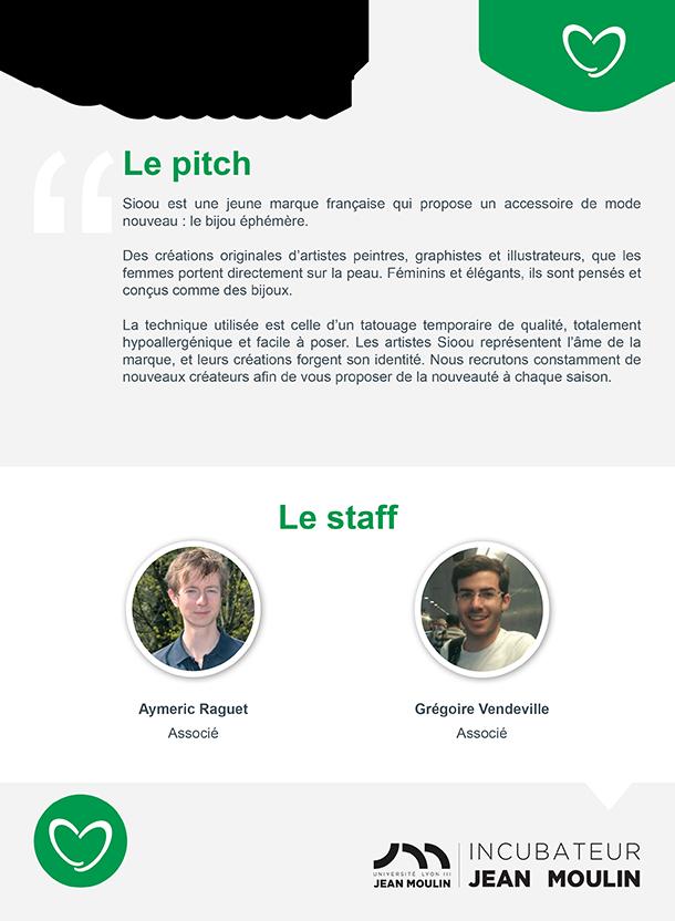 Incubateur Alptis Université Lyon 3, le 25. Portrait jeune entrepreneur : Sioou
