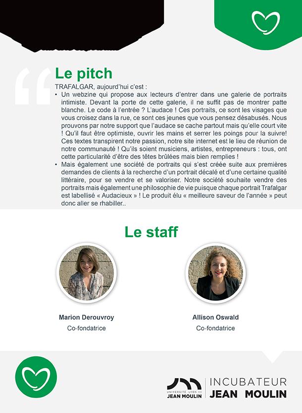 Incubateur Alptis Université Lyon 3, le 25. Portrait jeune entrepreneur : Trafalgar