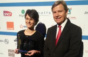 Fête de l'Entreprise : Alptis remet un Trophée à Adéa Présence