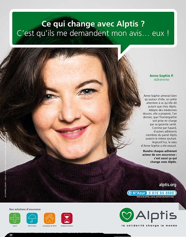 Campagne Alptis Assurances adhérent – crédit photo Olivier Ramonteu