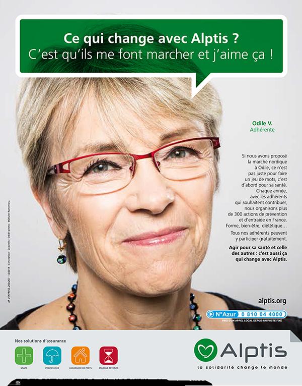 Campagne Alptis Assurances adhérent association – crédit photo Olivier Ramonteu