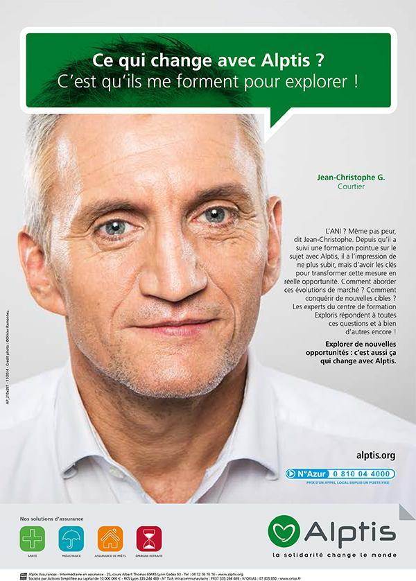 Campagne Alptis Assurances courtier – crédit photo Olivier Ramonteu
