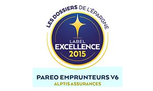 L'assurance de prêts Paréo Emprunteurs d'Alptis récompensée par le label d'Excellence 2015