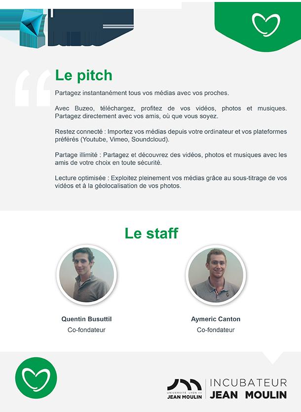 Incubateur Alptis Université Lyon 3, le 25. Portrait jeune entrepreneur : Buzeo