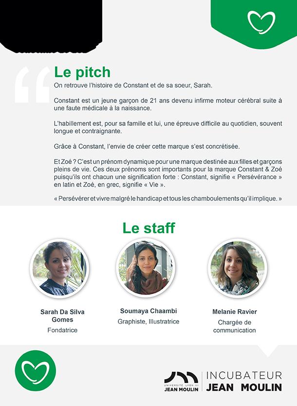 Incubateur Alptis Université Lyon 3, le 25. Portrait jeune entrepreneur : Constant et Zoé