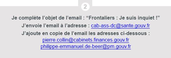 Travailleur Frontalier Suisse - mobilisation j'envoie mon email étape 2