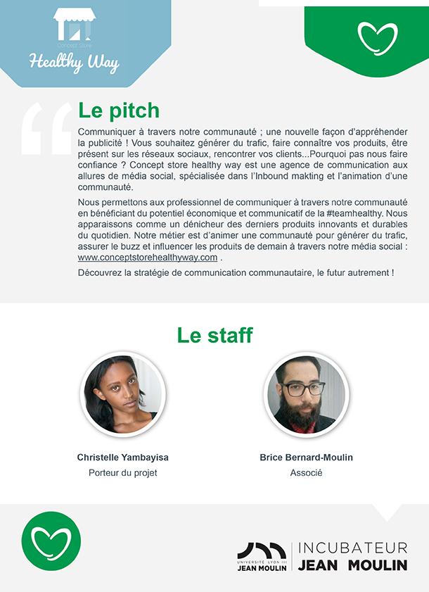 Incubateur Alptis Université Lyon 3, le 25. Portrait jeune entrepreneur : Healthy Way