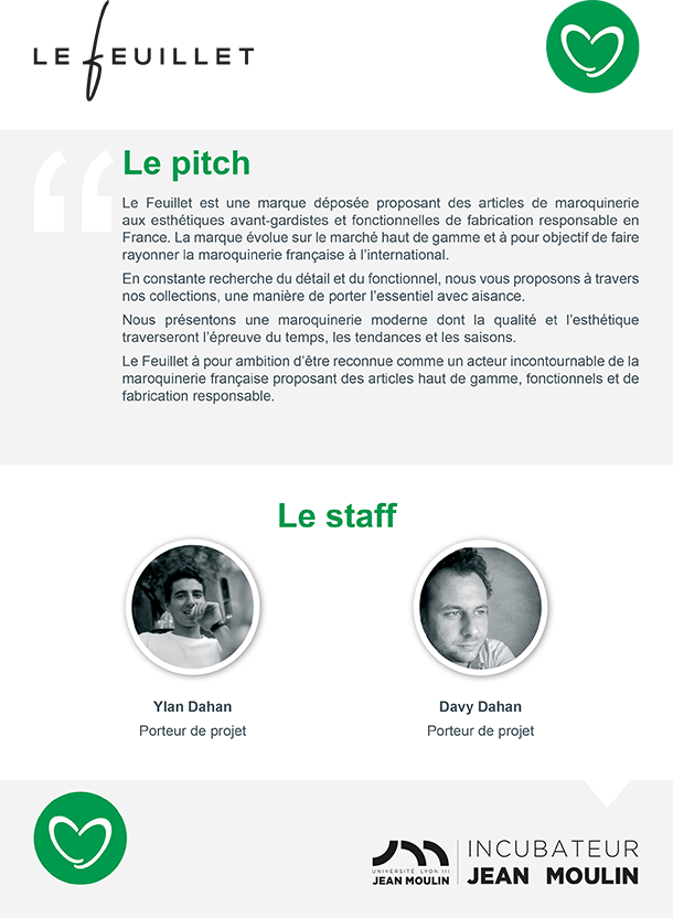 Incubateur Alptis Université Lyon 3, le 25. Portrait jeune entrepreneur : Le Feuillet
